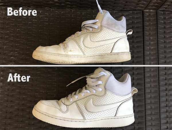 White Nike Sneaker - Before/After